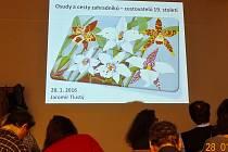 Snímek z přednášky Jaromíra Tlustého v Náprstkově muzeu