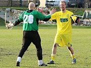 Petr Klinec a jeho radost po vydařeném utkání
