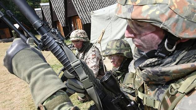 Vojenský tábor v Žerotíně.