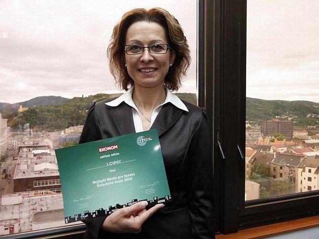 Tajemnice Renáta Čapková s oceněním.