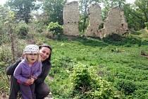 Hrad Pravda  v pohoří Džbán