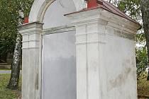 Kaplička sv. Jana Nepomuckého v Lenešicích skrývala cennou sochu