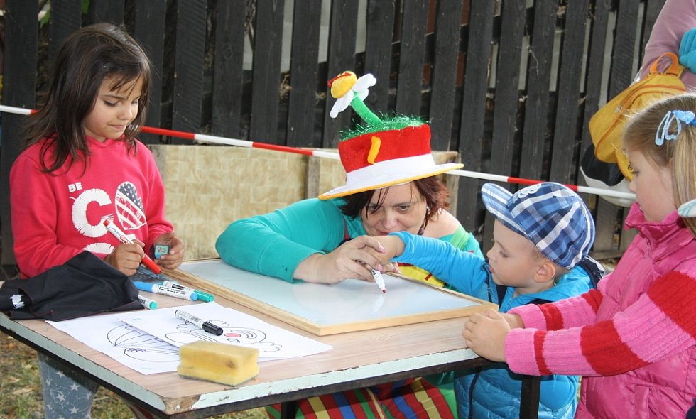 Pro děti byla připravena spousta kreslení a dalších činností a soutěží