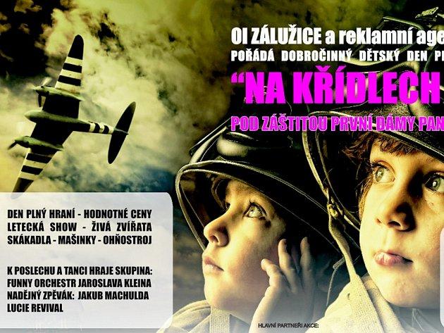 Část pozvánky na dobročinný dětský den ve Staňkovicích