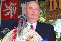 Ministr zemědělství Miroslav Toman na dožínkách v Peruci