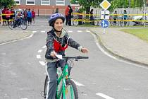 Soutěž mladých cyklistů na dopravním hřišti v Žatci