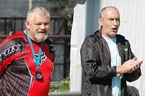 Trenér Václav Havránek (v brankářském proto, že stále působí u týmu i jako dvojka do branky) a jeho asistent Miroslav Hamouz.