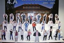 Maturitní tablo třídy 4.A Obchodní akademie Žatec