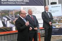 Slavnostní zahájení stavby nového paroplynového zdroje Elektrárny Počerady