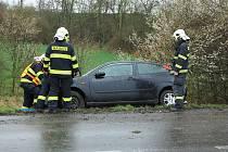 Dopravní nehoda u Trnovan na Žatecku ve čtvrtek 31. března
