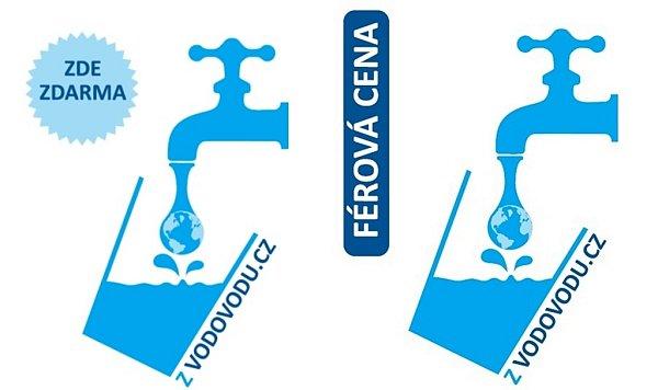 Takhle jsou označeny samolepkami na dveřích restaurace vČR, které nabízejí hostům možnost dát si kpití vodu natočenou zkohoutku.