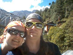 Petra a Štěpán Kotkovi v Lukle v Nepálu
