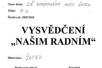Vysvědčení, které svým radním vystavili žáci ZŠ Komenského alej v Žatci