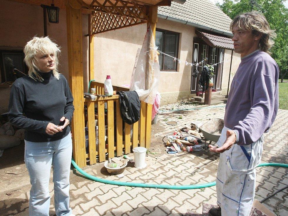 Yveta Hrubešová, které náplavové bahno zaplavilo dům v obci Vitovle.