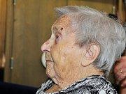 Marie Klímová z Kryr na snímku z října 2017, kdy slavila 105. narozeniny