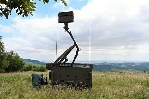 Český mobilní radar na Doupově.