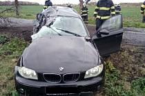 Dopravní nehoda u Brlohu na Lounsku.