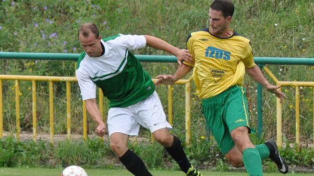 Slavoj (ve žlutém) sice ve druhém přípravném utkání prohrál, ale předvedl solidní výkon.