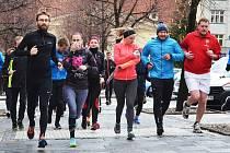Vánoční běh centrem Loun v roce 2018