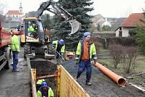 Výstavba kanalizace v Chlumčanech