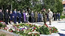 V Žatci se konal tradiční pietní akt u příležitosti 77. výročí vypálení Českého Malína na ukrajinské Volyni.