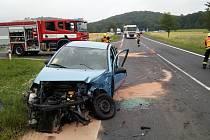 Střet dvou osobních aut u Kozlů.