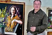 Akademický malíř Václav Nasvětil na archivním snímku