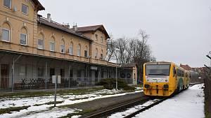 Vlakové nádraží Zámecká zahrada v Teplicích.