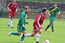 Utkání Žatce (v zeleném) proti týmu Srbic