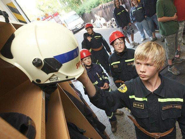 Mladí dobrovolní hasiči z Podbořan