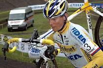 Petr Dlask při závodu v Lounech