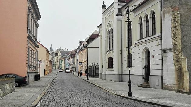 Hilbertova ulice v Lounech na archivním snímku