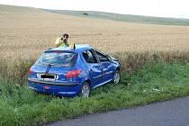 Havárie osobního vozu u Drahomyšle