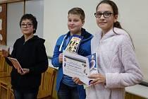 Třetí místo vybojovali Prokop Pavelka, Tereza Kabelová a Hynek Poděbradský, sedmáci ze ZŠ J. A. Komenského Louny