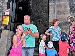 Kdo chtěl vidět centrum Loun jako na dlani, zamířil na věž kostela sv. Mikuláše