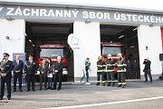 Otevření hasičské stanice v zóně Triangle