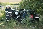 Tragická nehoda tří aut mezi Louny a Postoloprty si vyžádala jeden život a jednoho těžce zraněného