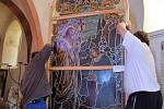Členové a příznivci Občanského sdružení za záchranu kostela sv.Jiljí mají za sebou další brigádu. Na kostele v Libyni na Podbořansku, o který se dlouhodobě starají.