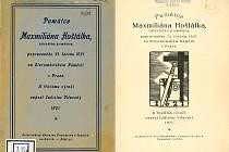 Brožura o Hošťálkovi, kterou sepsal žatecký vlastenecký učitel Ladislav Vltavský.