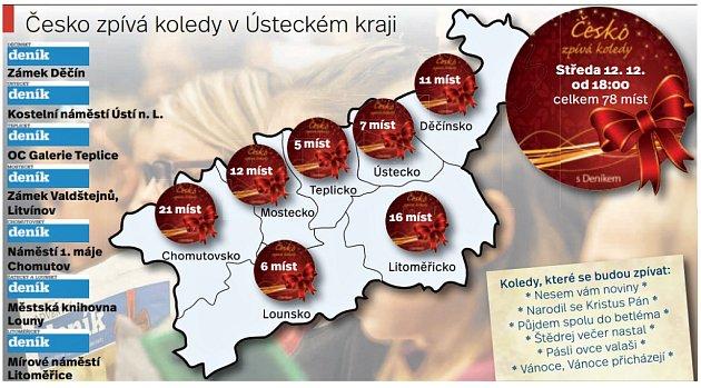 Česko bude zpívat koledy vcelém kraji