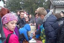 Tříkrálový pochod lounských gymnazistů na vrch Červeňák