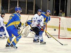 Utkání Slovanu Louny (v bílém) proti Lovosicím