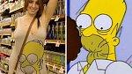 Dívka na nákupu, nebo Homer Simpson?