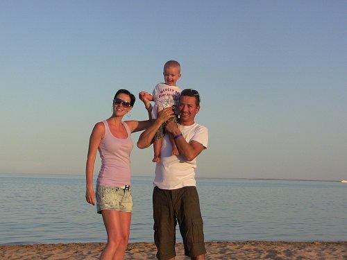 Petr Bende s rodinou