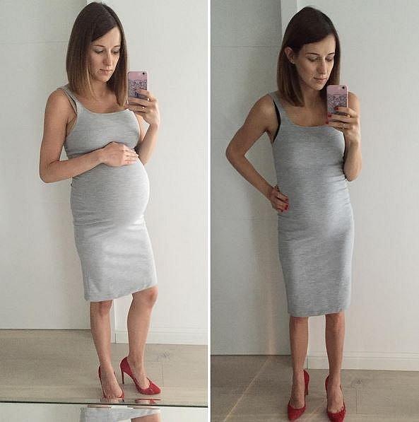 36. týden těhotenství versus tělo deset týdnů po porodu.
