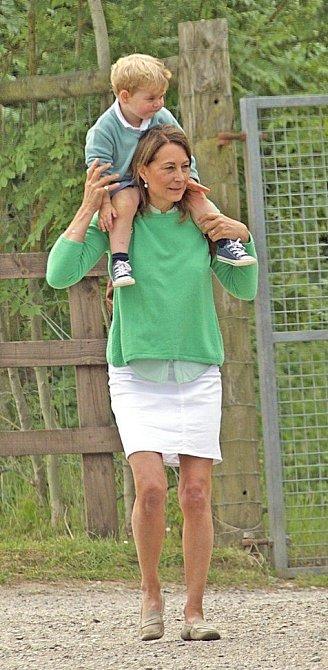 Carole Middleton s princem Georgem