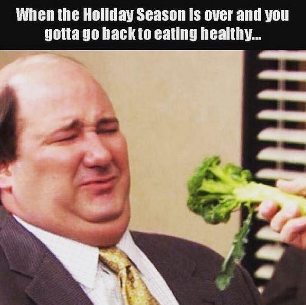 Když skončí svátky a ty se vracíš ke zdravému stravování...