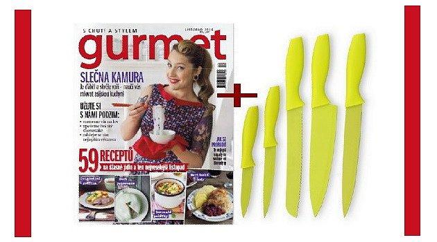 Zdarma sada nožů pro nové předplatitele časopisu Gurmet!