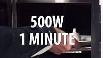 ...a dejte do mikrovlnky na jednu minutu.