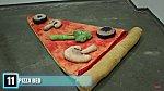 Tentokrát se jedná o postel ve tvaru kousku pizzy.